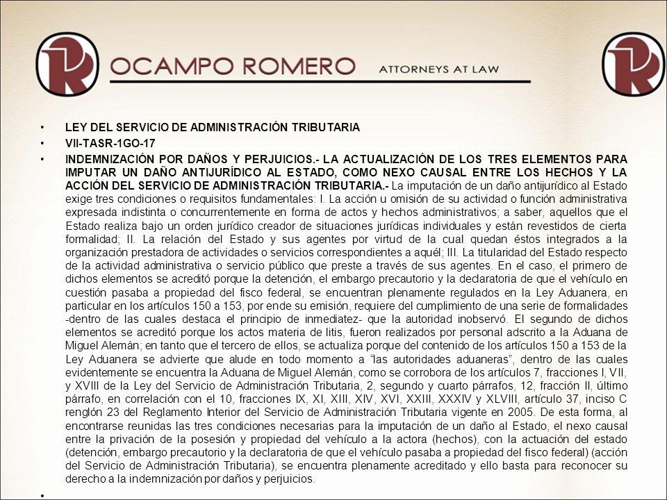 LEY DEL SERVICIO DE ADMINISTRACIÓN TRIBUTARIA