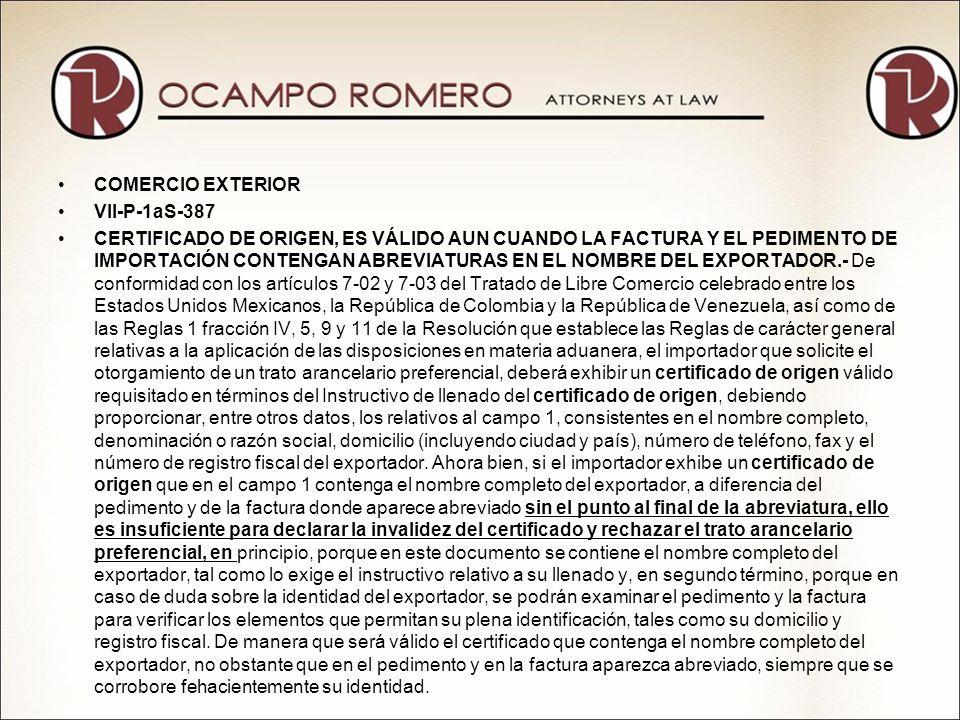 COMERCIO EXTERIORVII-P-1aS-387.