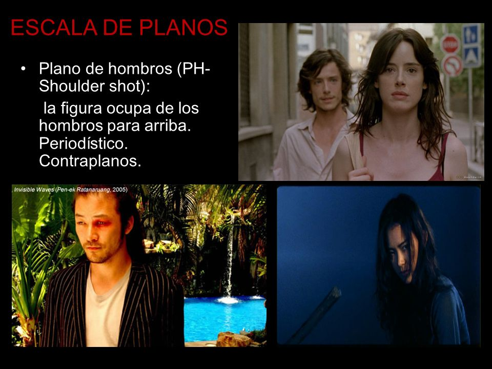 ESCALA DE PLANOS Plano de hombros (PH- Shoulder shot):