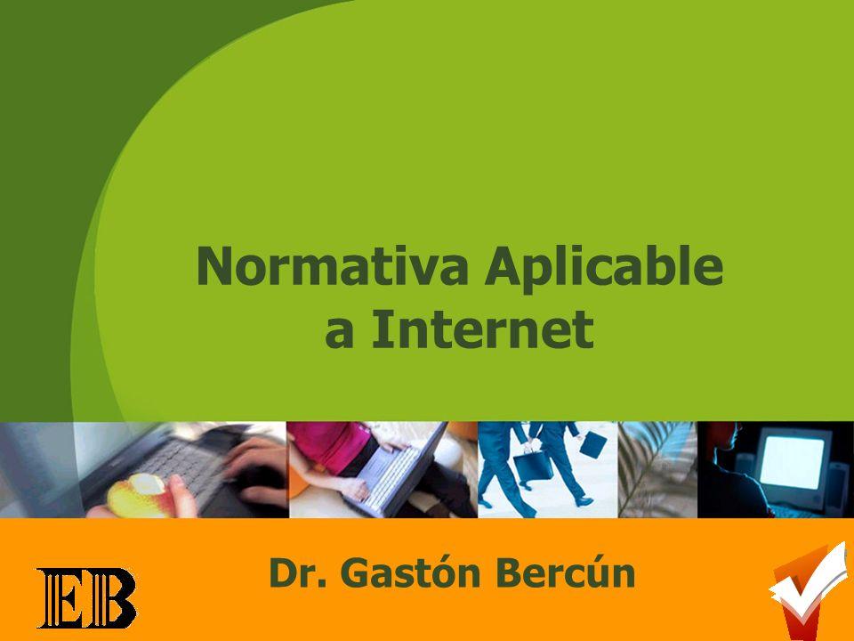 Normativa Aplicable a Internet