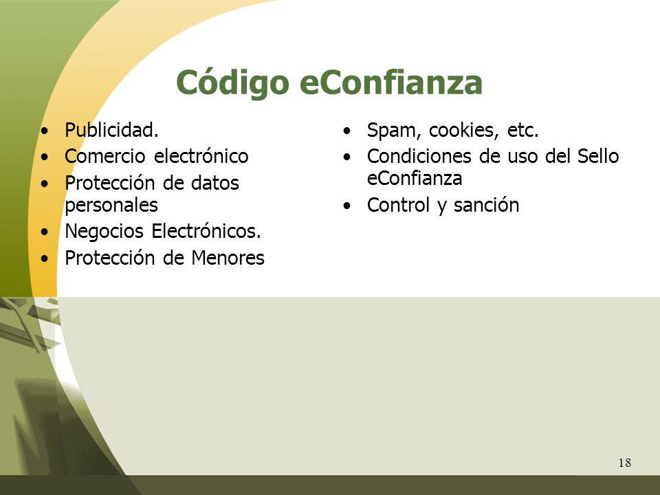 Código eConfianza Publicidad. Comercio electrónico