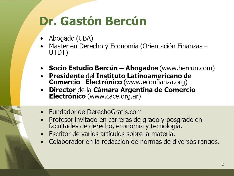 Dr. Gastón Bercún Abogado (UBA)