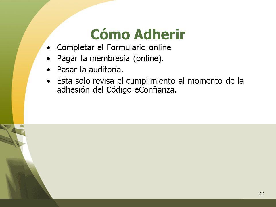 Cómo Adherir Completar el Formulario online