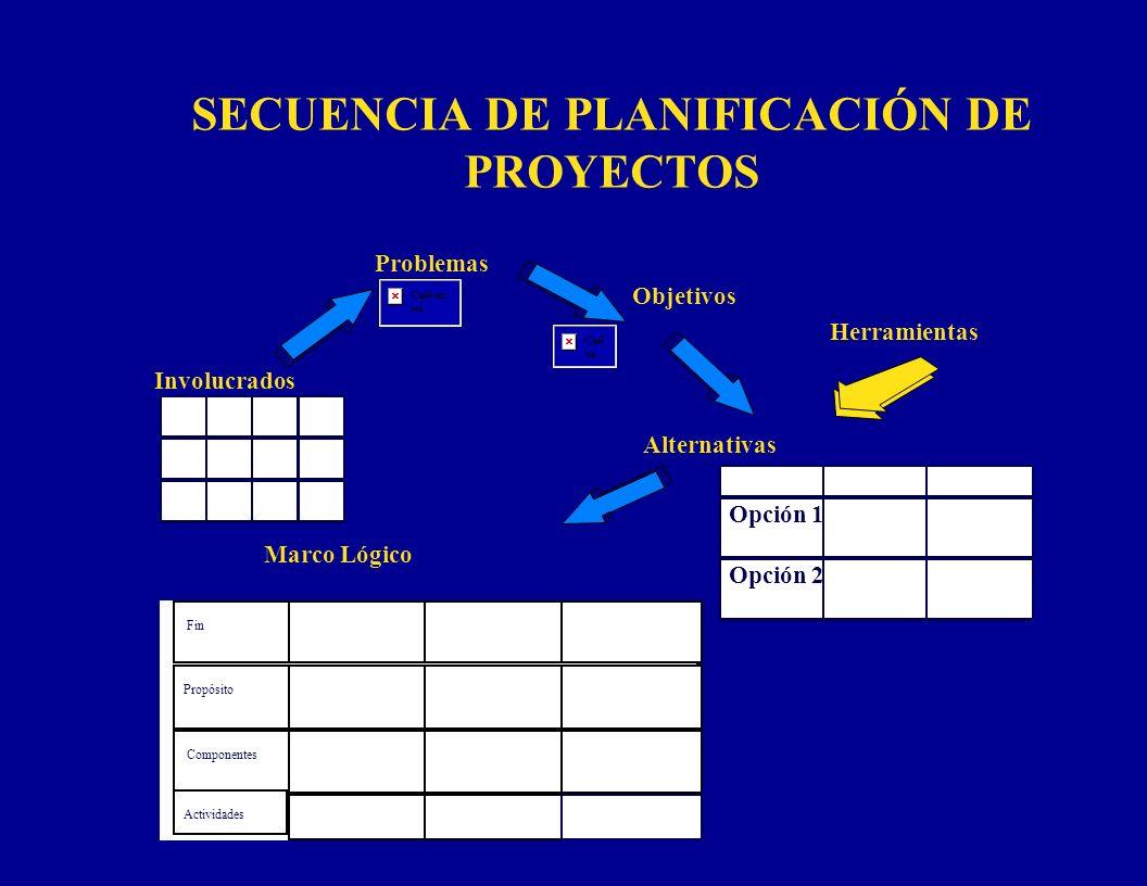 SECUENCIA DE PLANIFICACIÓN DE PROYECTOS