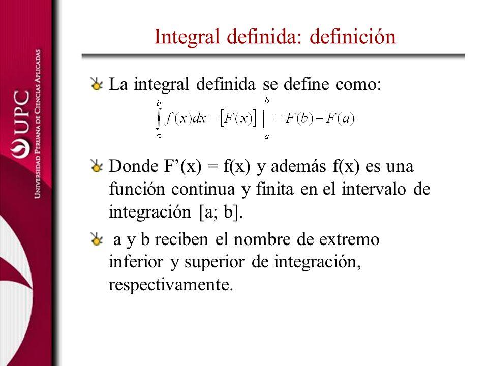Integral definida: definición
