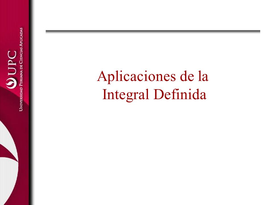Aplicaciones de la Integral Definida