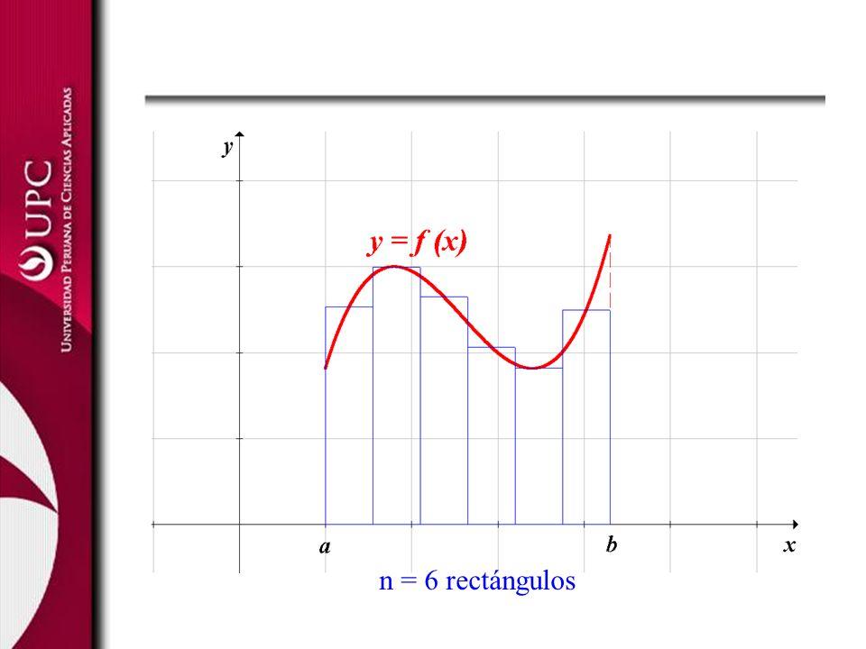 n = 6 rectángulos