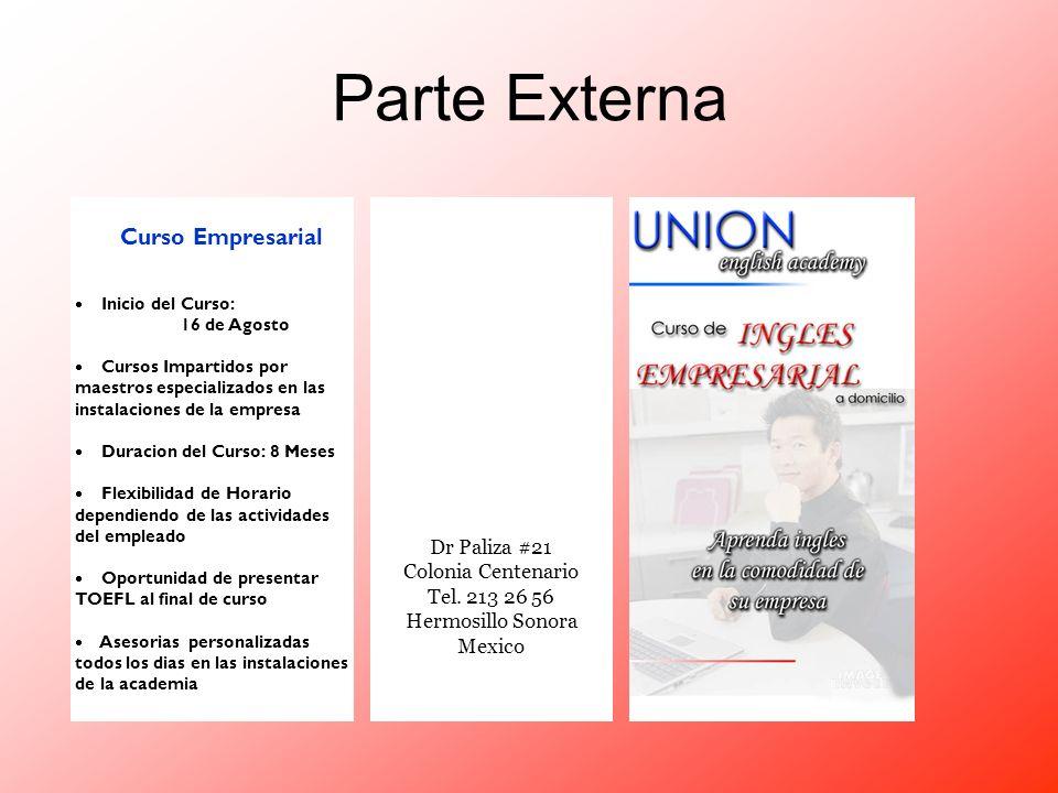 Parte Externa Curso Empresarial Dr Paliza #21 Colonia Centenario