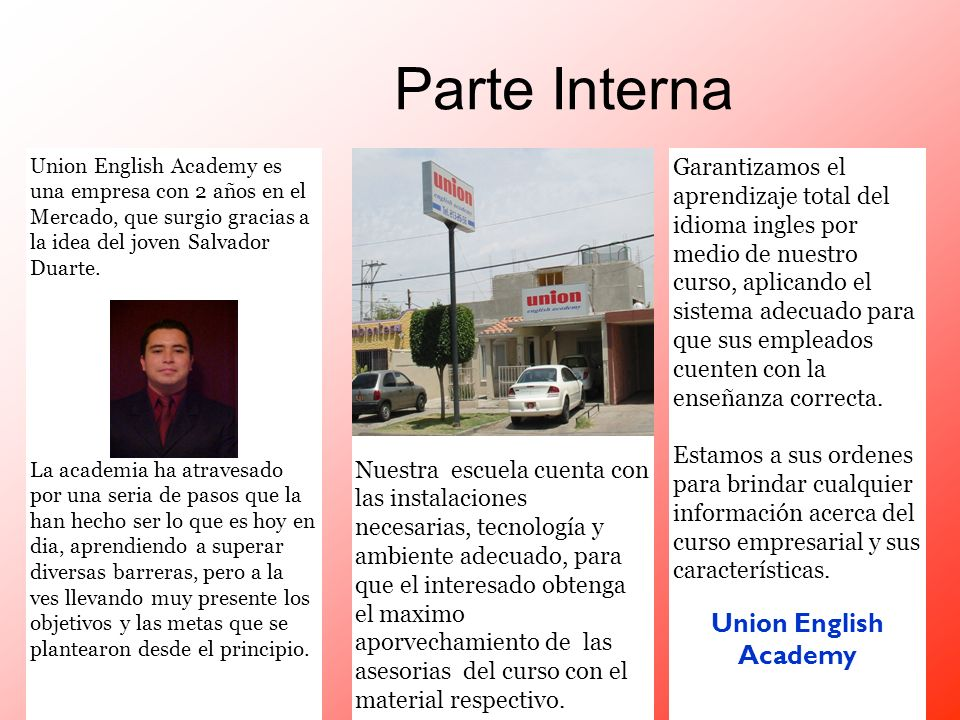 Parte Interna Union English Academy