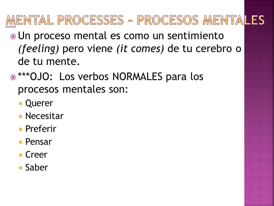 Mental processes – Procesos mentales