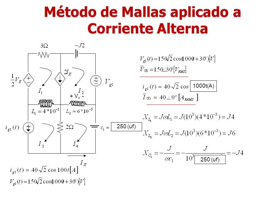 Método de Mallas aplicado a Corriente Alterna
