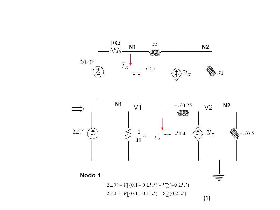 N1 N2 N1 N2 V1 V2 Nodo 1 (1)
