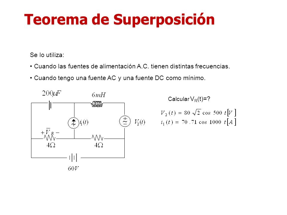 Teorema de Superposición
