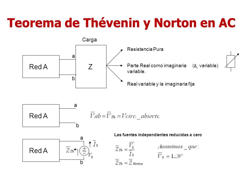 Teorema de Thévenin y Norton en AC