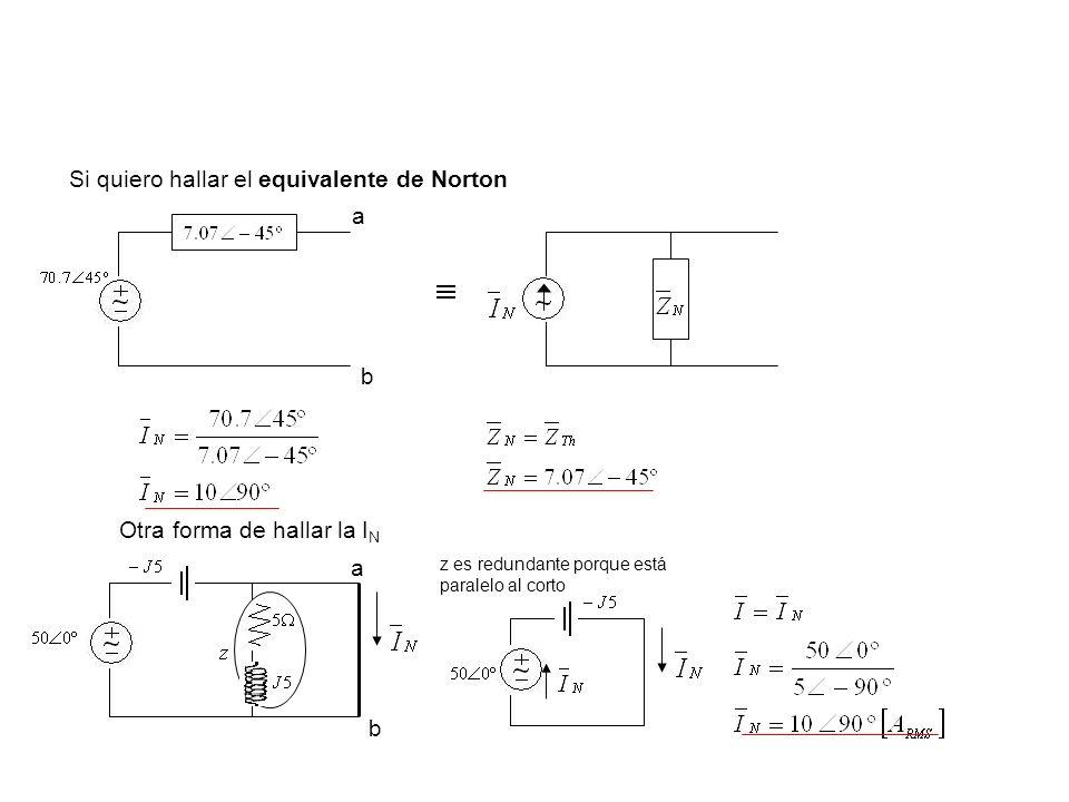 Si quiero hallar el equivalente de Norton