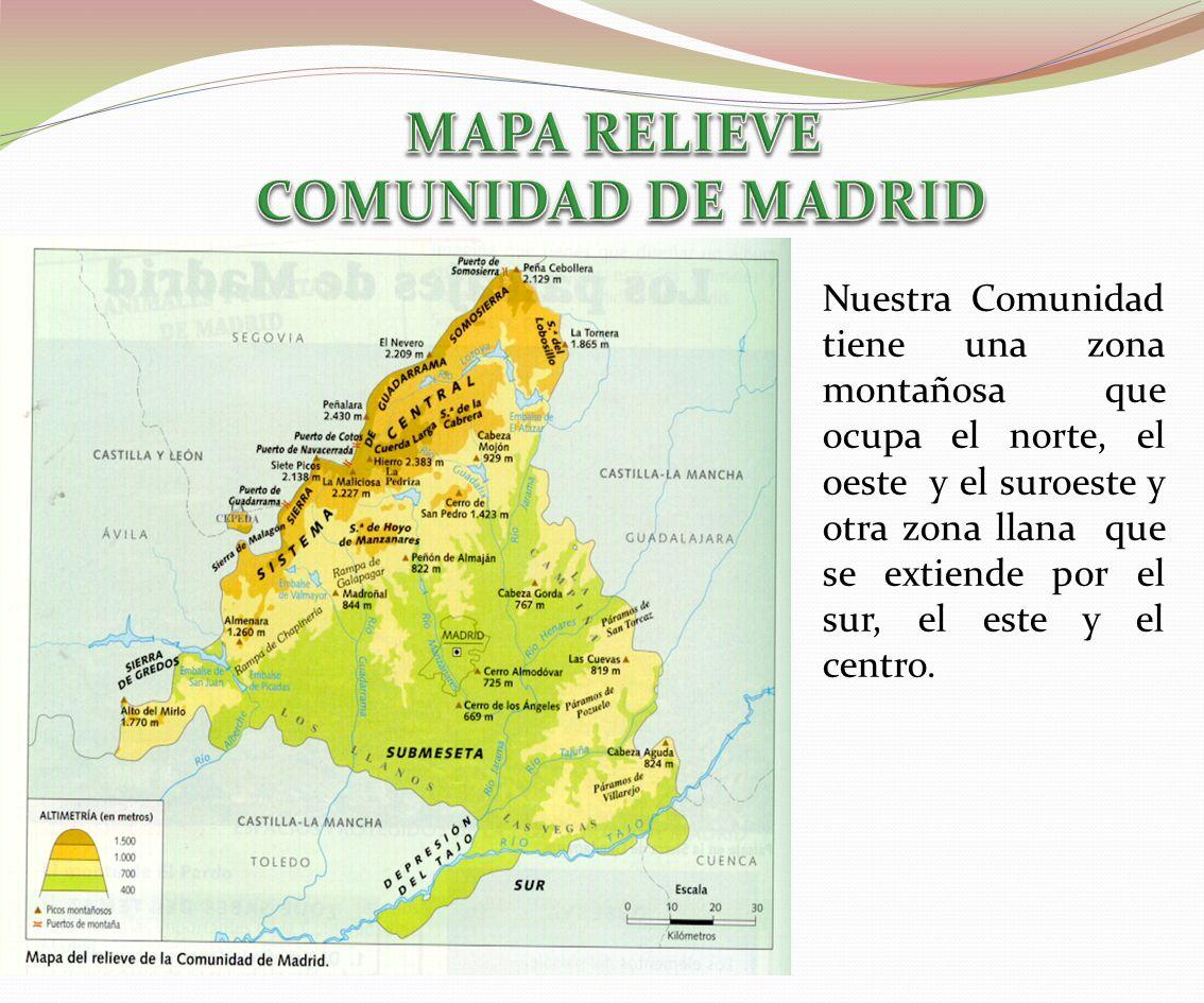 El relieve ppt video online descargar for Comunidad de madrid rea