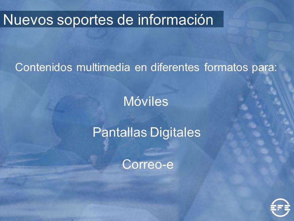 Contenidos multimedia en diferentes formatos para: