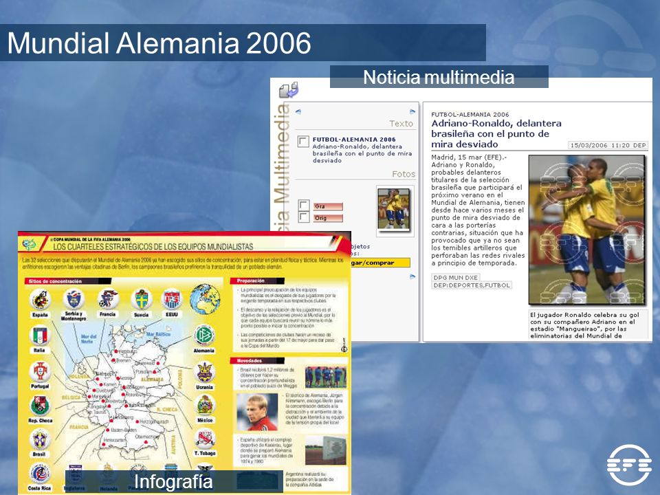 Mundial Alemania 2006 Noticia multimedia Infografía