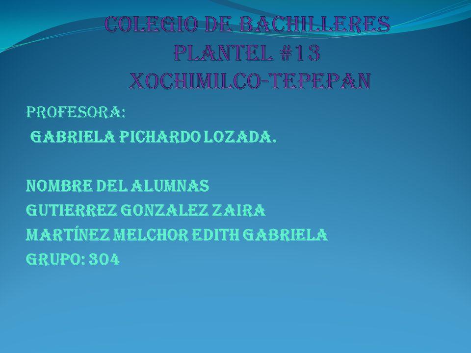COLEGIO DE BACHILLERES PLANTEL #13 Xochimilco-TEPEPAN