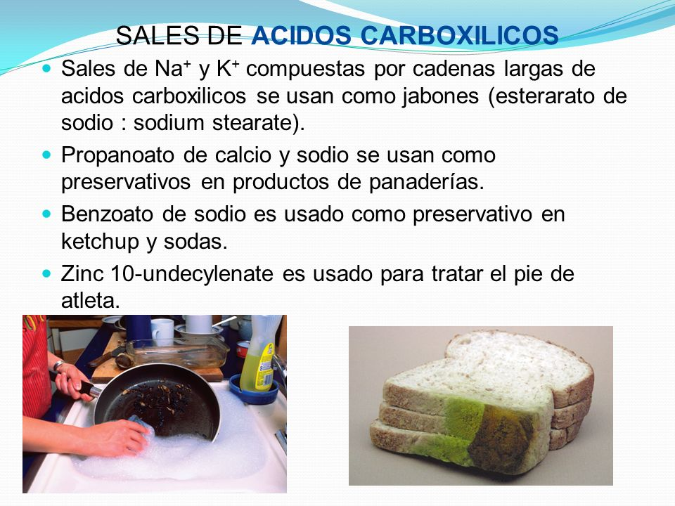 SALES DE ACIDOS CARBOXILICOS