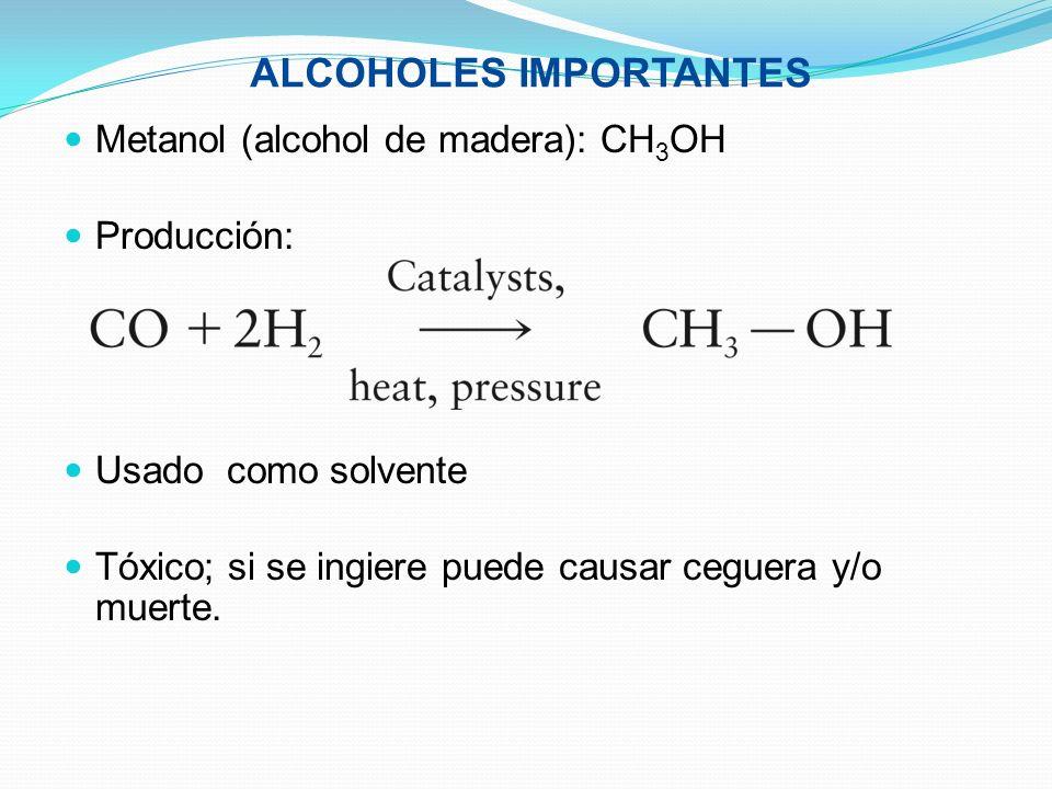 ALCOHOLES IMPORTANTES