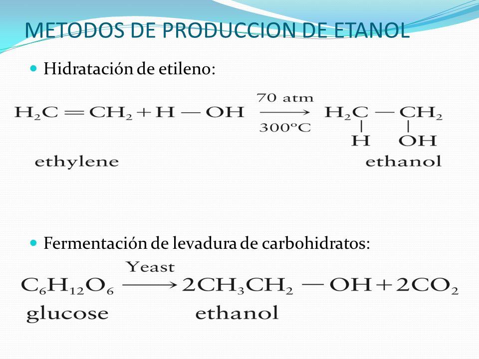 METODOS DE PRODUCCION DE ETANOL