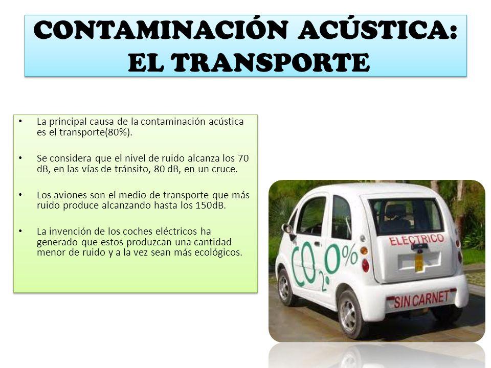 CONTAMINACIÓN ACÚSTICA: EL TRANSPORTE