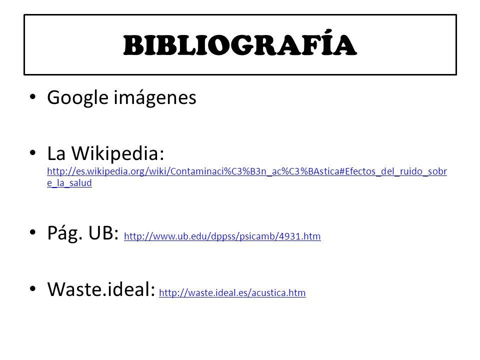 BIBLIOGRAFÍA Google imágenes
