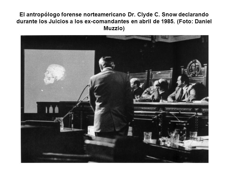 El antropólogo forense norteamericano Dr. Clyde C