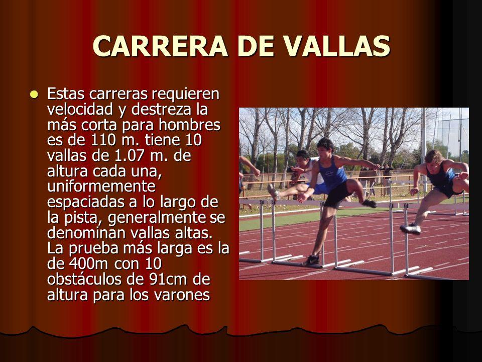 CARRERA DE VALLAS