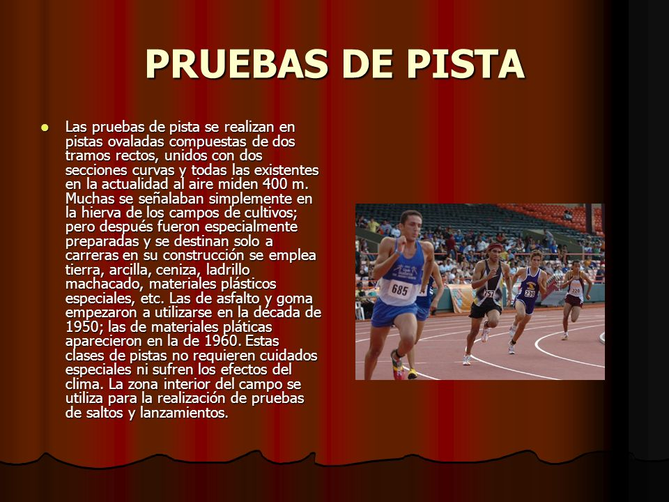 PRUEBAS DE PISTA