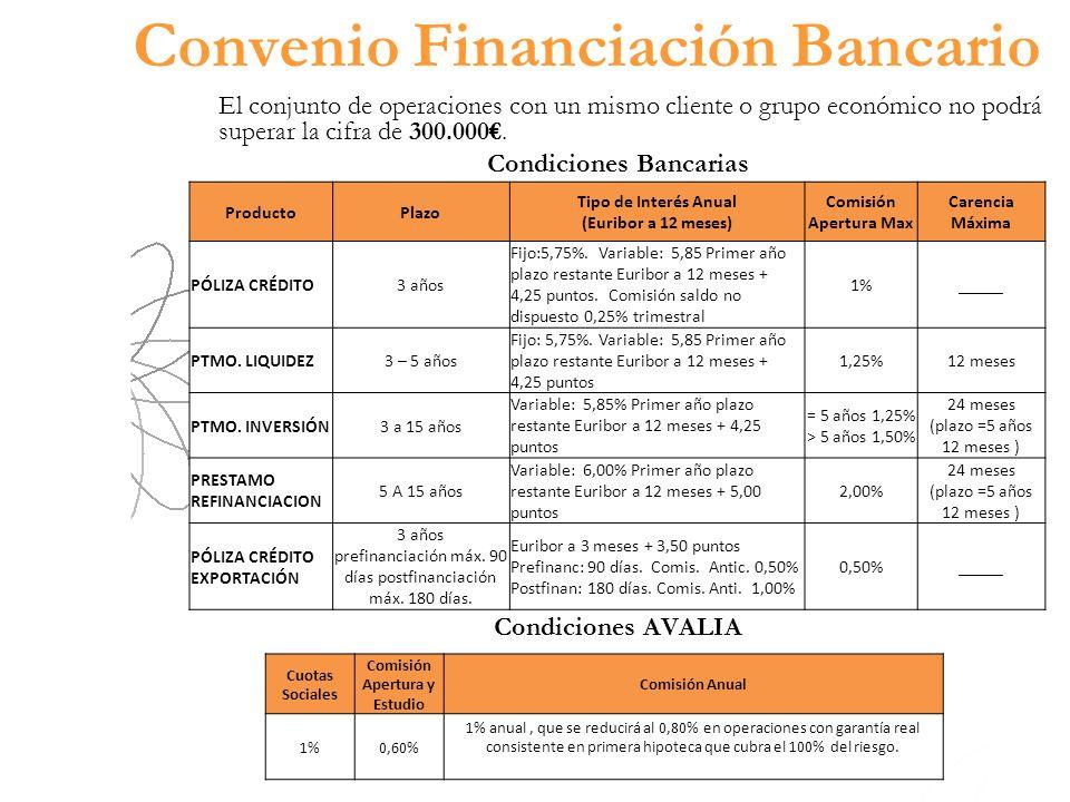 Convenio Financiación Bancario