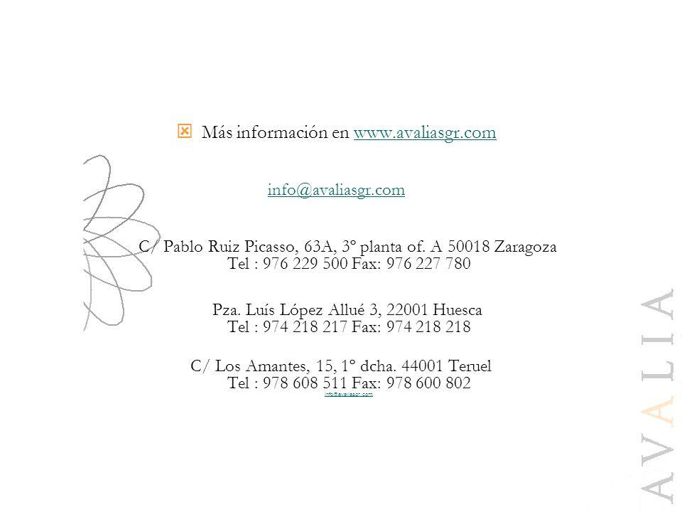 Más información en www.avaliasgr.com