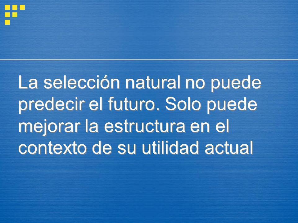 La selección natural no puede predecir el futuro