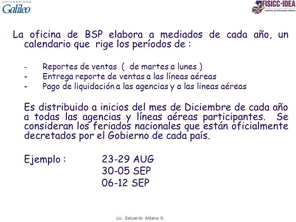 La oficina de BSP elabora a mediados de cada año, un calendario que rige los períodos de :