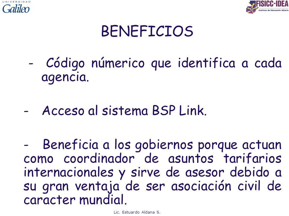 BENEFICIOS - Código númerico que identifica a cada agencia.