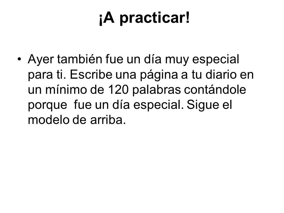 ¡A practicar!