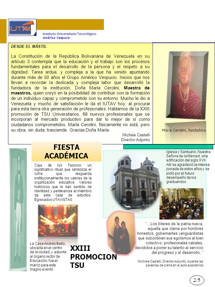 FIESTA ACADÉMICA XXIII PROMOCION TSU 2/5