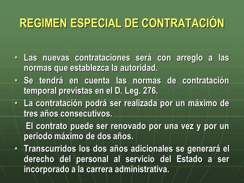 REGIMEN ESPECIAL DE CONTRATACIÓN