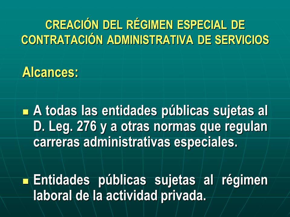 Entidades públicas sujetas al régimen laboral de la actividad privada.