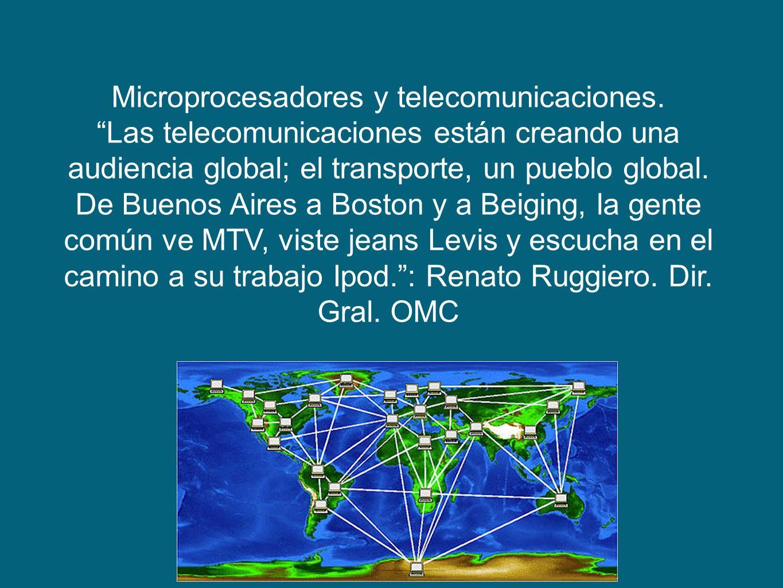Microprocesadores y telecomunicaciones.