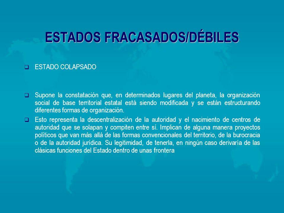 ESTADOS FRACASADOS/DÉBILES