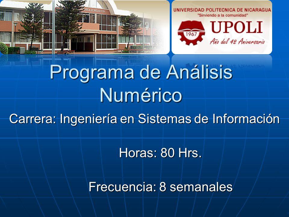 Programa de Análisis Numérico