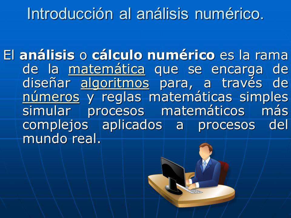 Introducción al análisis numérico.