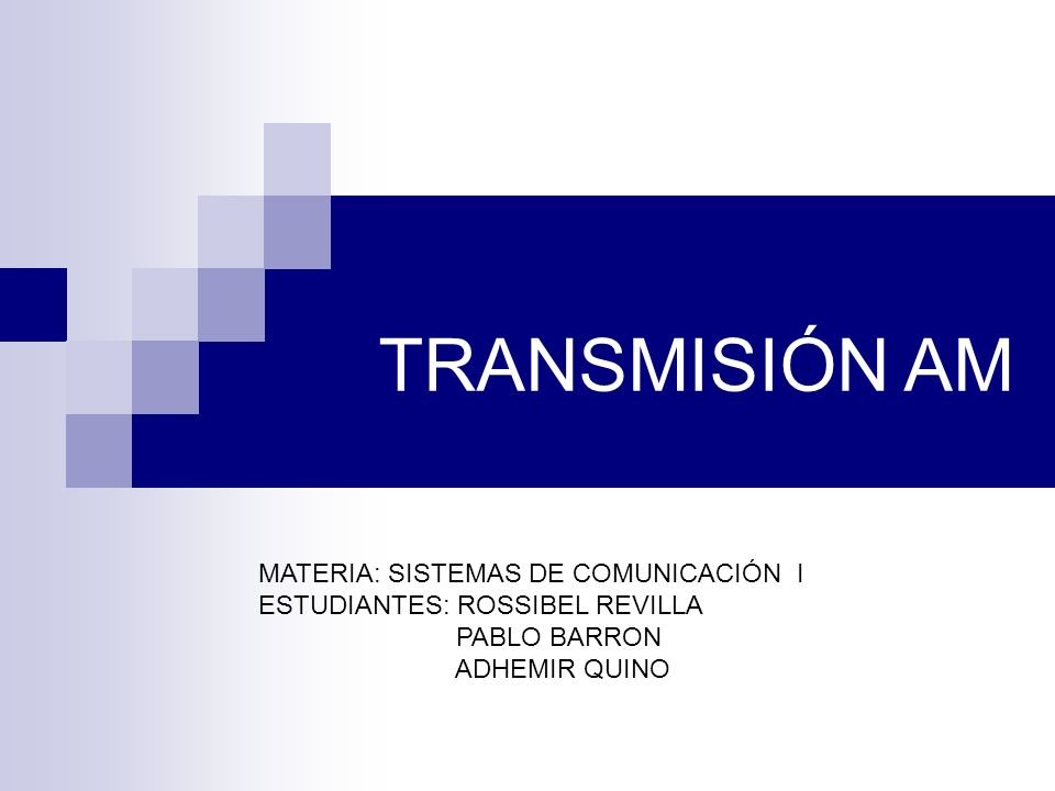 TRANSMISIÓN AM