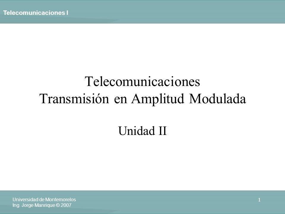 Telecomunicaciones Transmisión en Amplitud Modulada