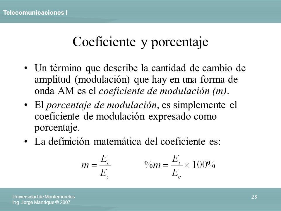 Coeficiente y porcentaje