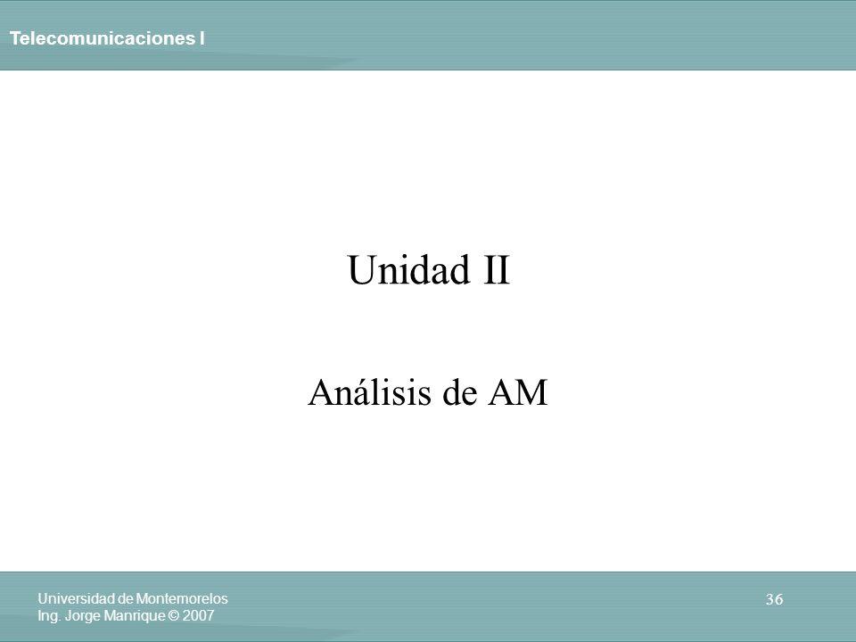 Unidad II Análisis de AM