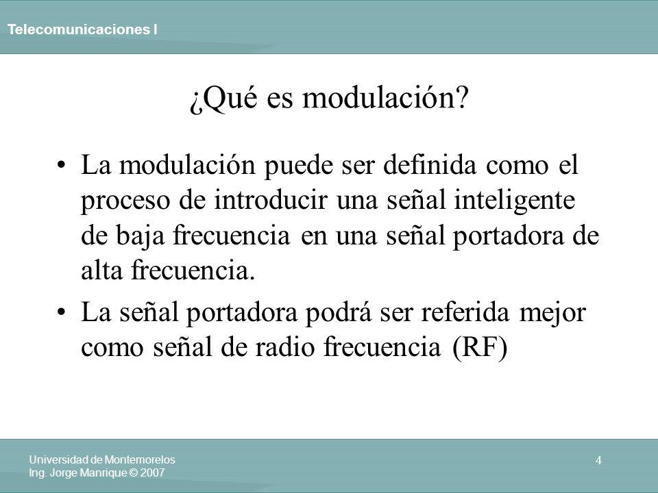 ¿Qué es modulación