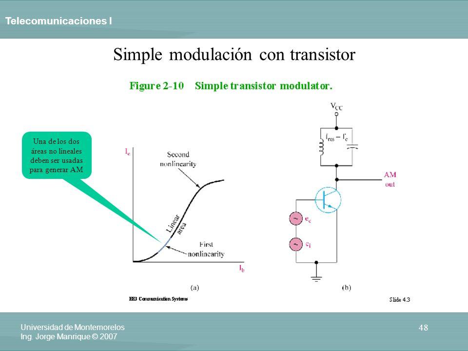 Simple modulación con transistor